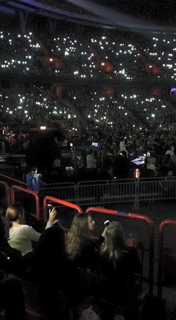 At concerts these days people wave their phone flashlights instead of cigarette lighters during the slow numbers.