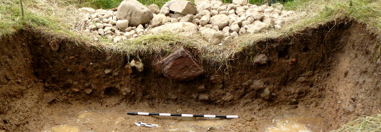 Trench C: section through the deep inner moat.