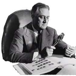 By the time the reporters got done with him, FDR was a stamp collector, like it or not.