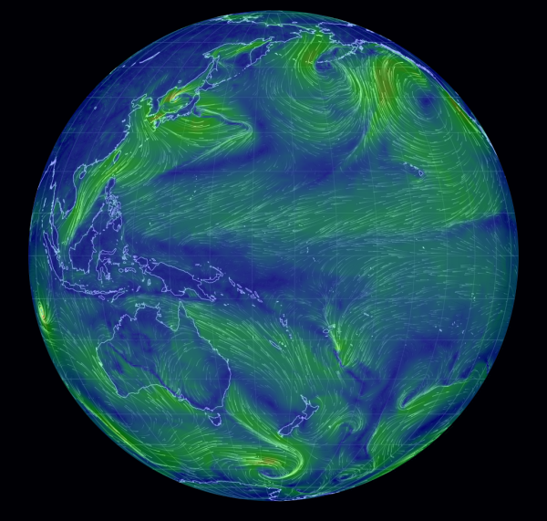global wind patterns snapshot