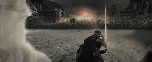 Aragorn and his outnumbered armies face the assembled hordes of the dark lord Sauron as the Black Gate to Mordor opens. This is also not what is happening when antivaccinationists face criticism for their views.