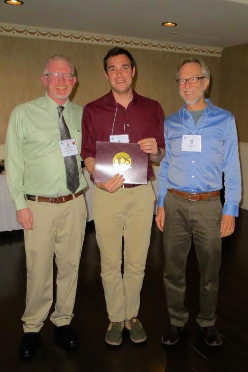 Joseph Santin, Wright State University, pictured with Dr. Michael Hedrick (left; current chair of the CEPS) and Jon Harrison (right; 2016 August Krogh Distinguished Lecturer).