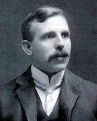 Ernest Rutherford, probably around 1900. From Wikipedia.