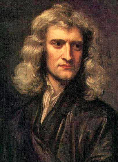 Portrait of Isaac Newton circa 1689.