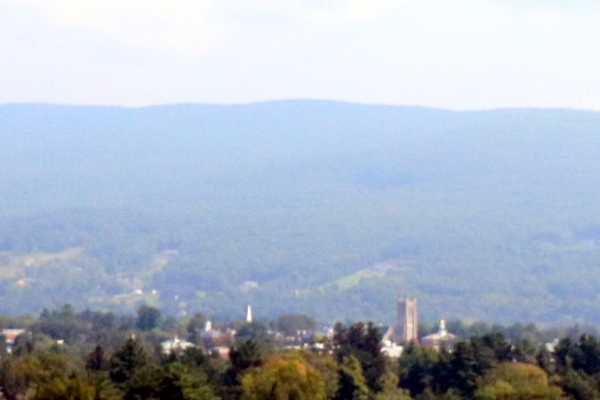 Williams College, magnified from the wide shot above,