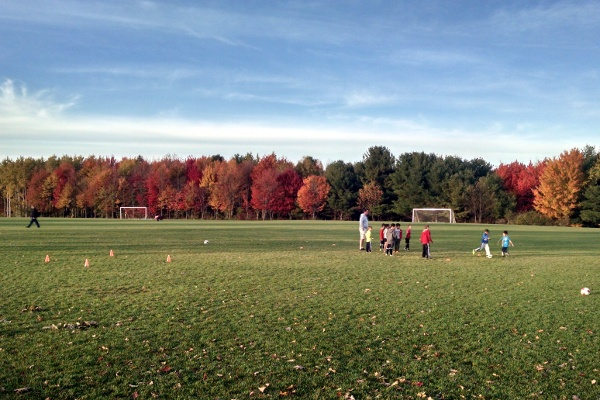 The last rec soccer practice for the fall 2015 season.
