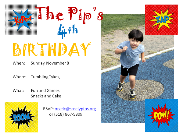 The Pip's having a birthday party.