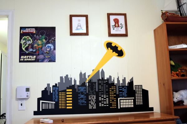 The Pip's new Gotham City wall decal.