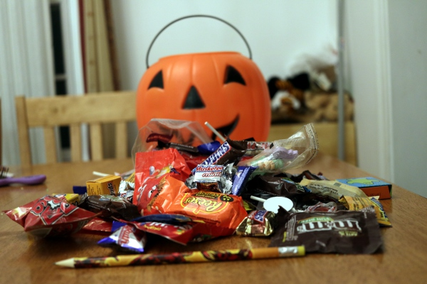 The Pip's Halloween candy.