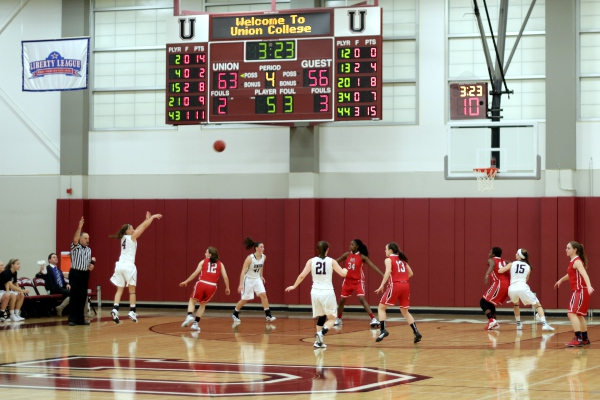 A jump shot late in the second half of the Union women's win over RPI/