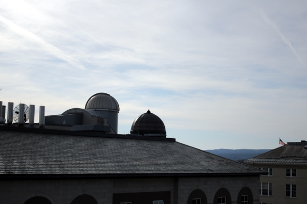 The Union college Observatory dome and the Nott Memorial dome.