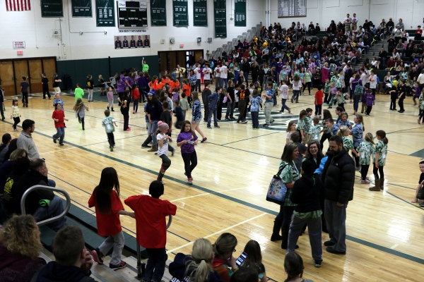 "The ""dance party"" phase of the Odyssey of the Mind tournament last weekend."