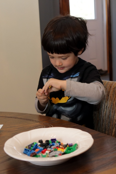 Legos demand intense concentration.
