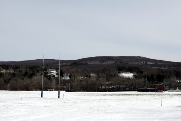 The rugby pitch on Cole Field.