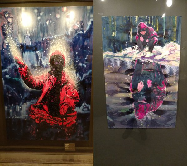 Two works by Armando Mariño from a show at the Rubin Museum.