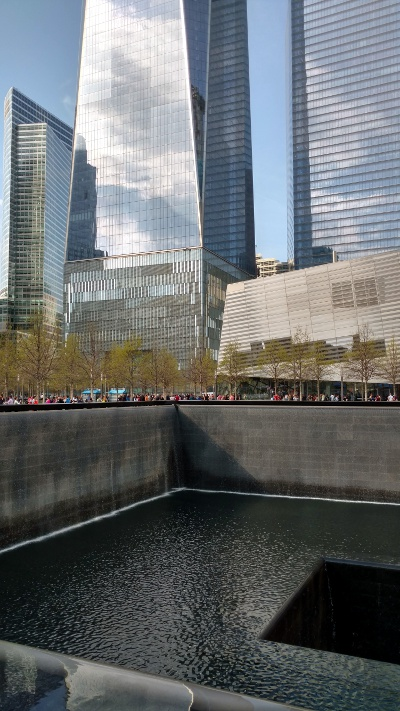 The 9/11 memorial in Lower Manhattan.