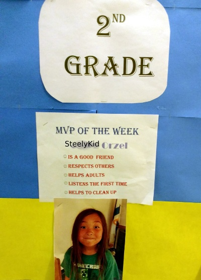 SteelyKid's MVP of the Week poster.