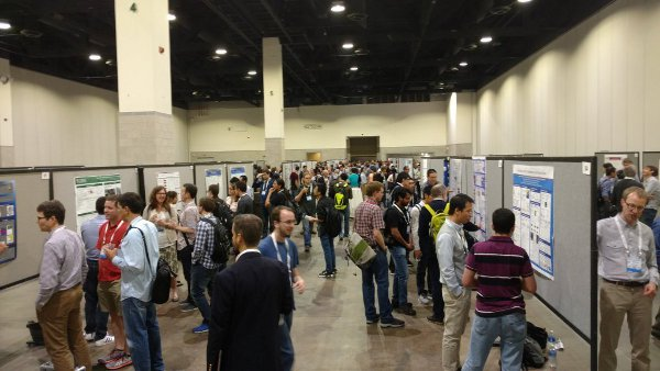 One of the poster sessions at DAMOP.
