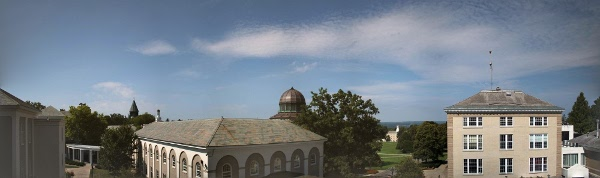 "Panorama from the ""porch"" outside the Olin Science Center at Union College."