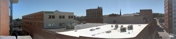 Downtown Schenectady from the roof of the parking garage on Broadway.