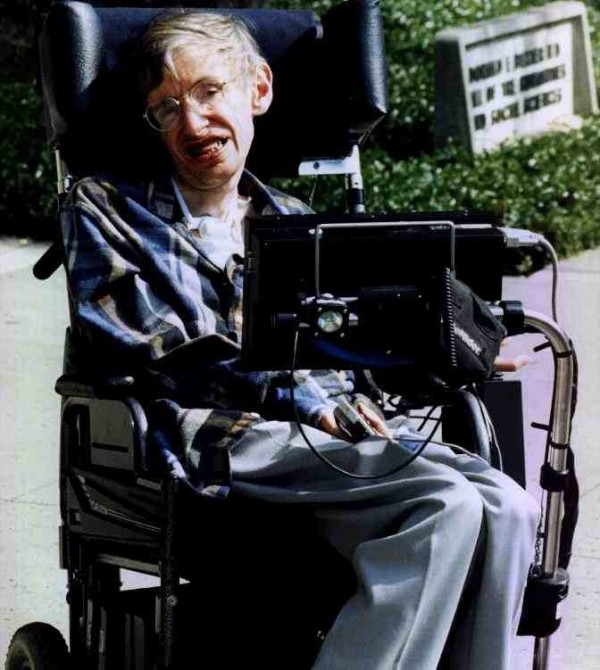 This is an image of Stephen Hawking that I found. Credit? Unknown.