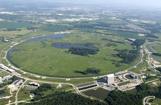 An older view (pre-main injector) of Fermilab, as I remember it best from 1997. Image credit: Fermi National Accelerator Laboratory, a.k.a. Fermilab.