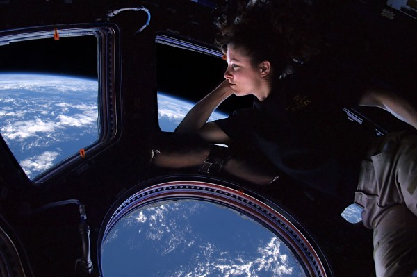 Tracy Dyson in the ISS Cupola