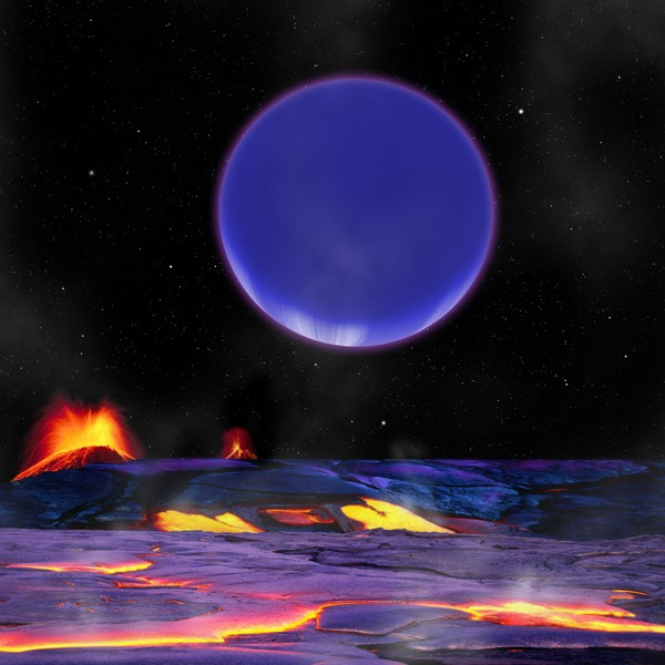 Neptune from a super-Earth