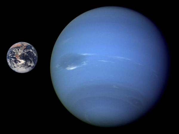 Neptune and Earth