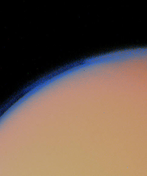 Titan from Voyager 1