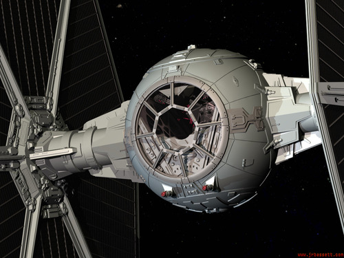 Was the cupola REALLY based on a TIE fighter?