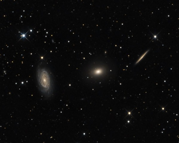 Trio of Draco Galaxies