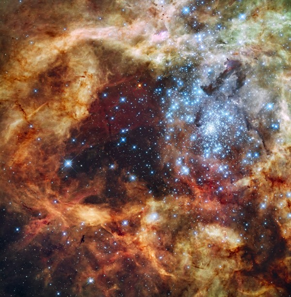 The R136 region of the Tarantula nebula