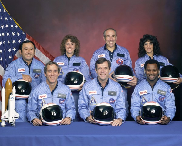 The crew of Challenger flight 51-L