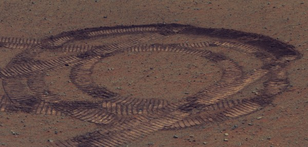 Opportunity's turning tracks