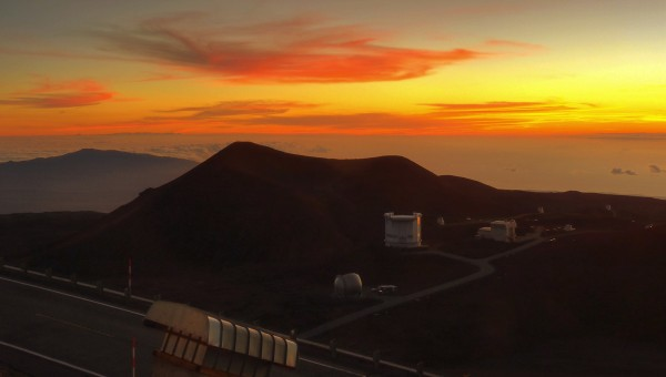 Sunset from a Hawaiian Astronomer