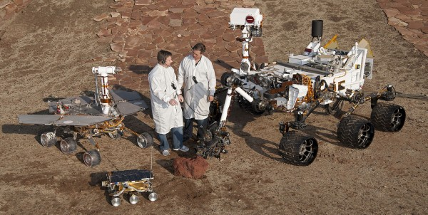 Mars Curiosity, Opportunity, and Sojourner rovers