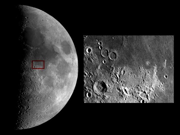 Moon and Apollo 11 landing site