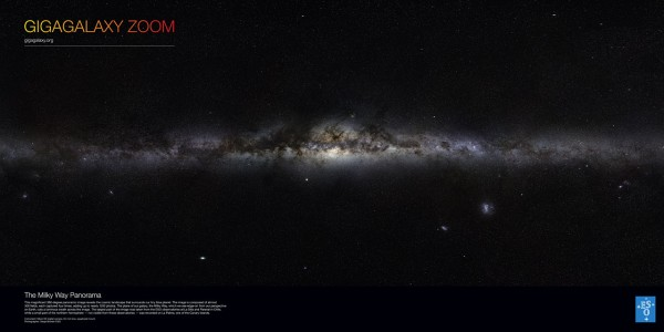 Gigagalaxy Zoom of the Milky Way, by the ESO