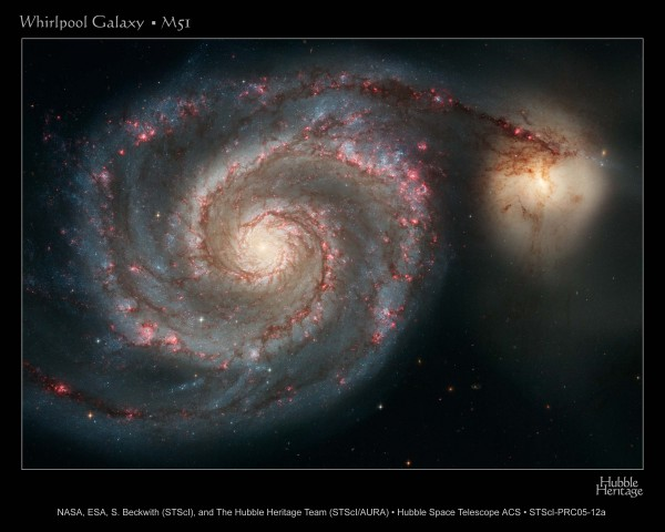 The Whirlpool Galaxy by Hubble