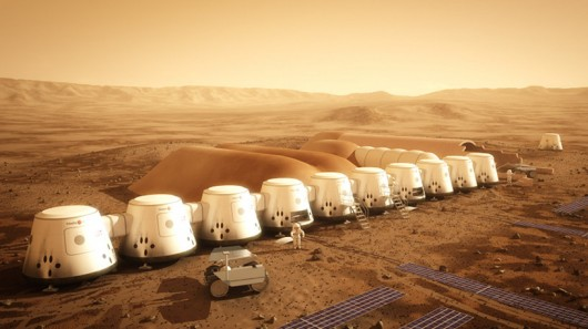 First Martian human settlement, as envisioned by Mars One