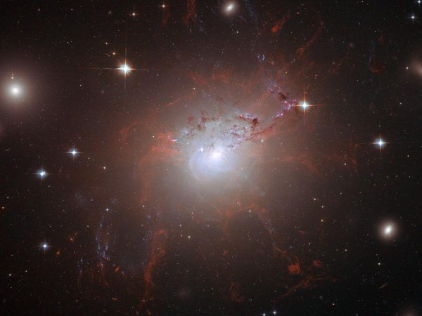NGC 1275 at the center of the Perseus Cluster
