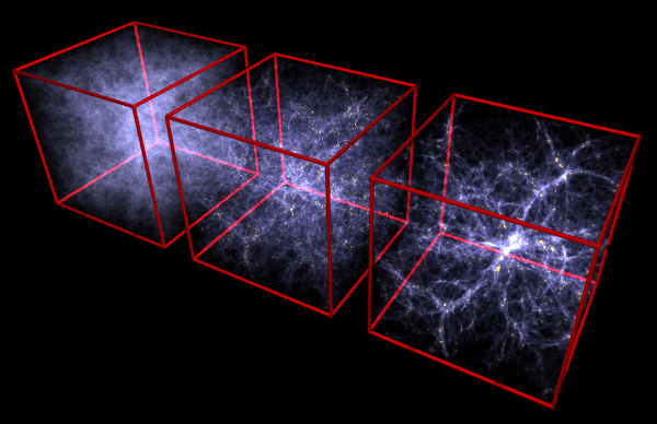 High resolution simulation of structure formation in the Universe