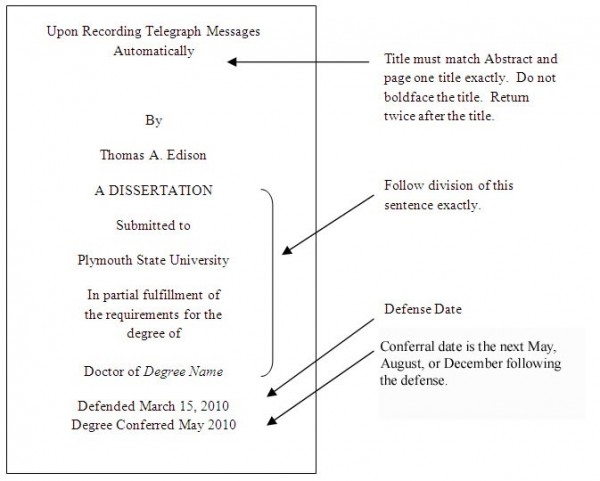 Dissertation science technique