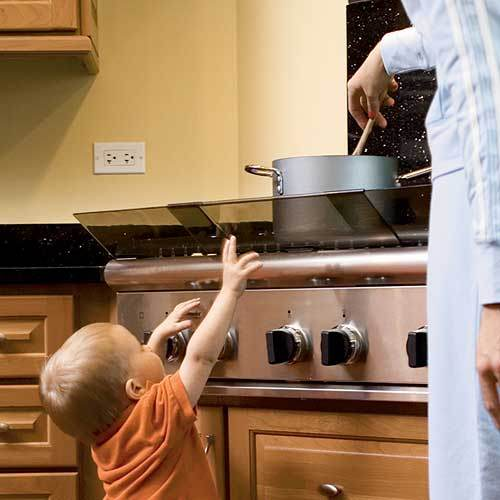 Image credit: Childproof Adjustable Stove Guard, from http://www.onestepahead.com/.