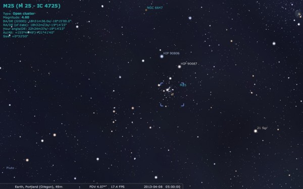 Image credit: me, using the free software Stellarium, from http://stellarium.org/.