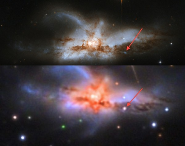 Image credit: Adam Block/Mount Lemmon SkyCenter/University of Arizona (bottom), NASA / ESA / Hubble Heritage Team / A. Evans (top).