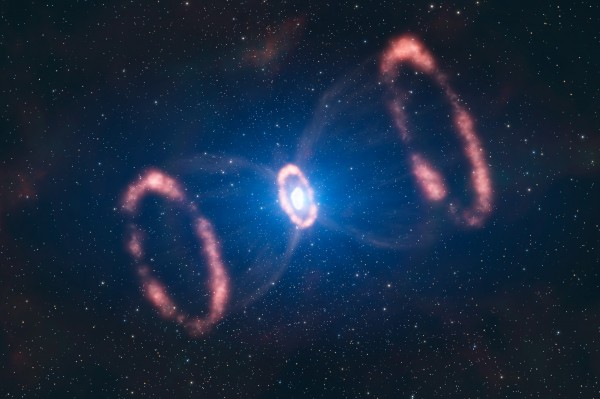 Image credit: ESO / L. Calçada, of the remnant of SN 1987a.