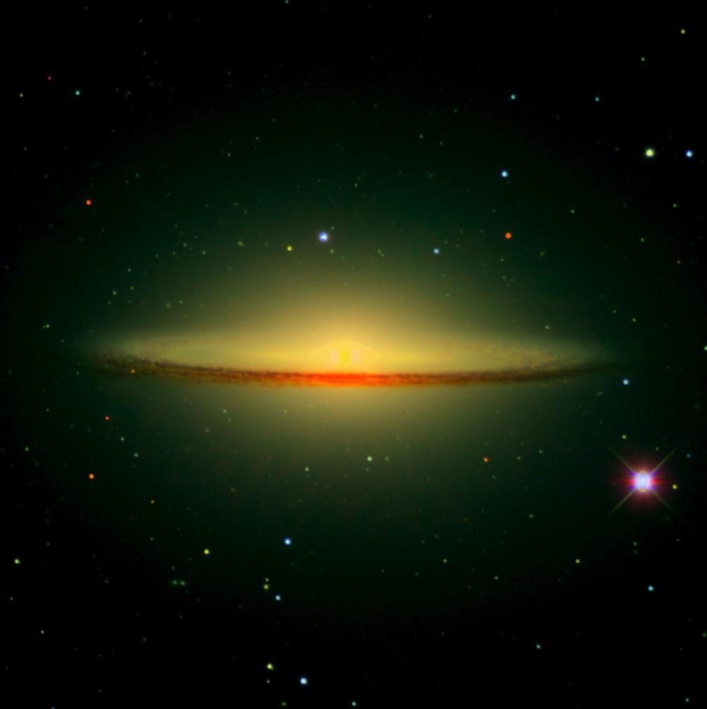 Messier Monday The Sombrero Galaxy M104 Scienceblogs