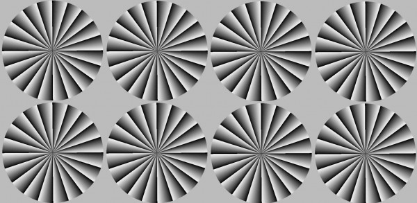 Image credit: A. Kitaoka and H. Ashida, VISION Vol.15, No.4, 261-262, 2003. Tiling by me.